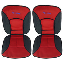 Racing Red Seat Cushions, Steering Wheel Cover, Seat Belt Cushions