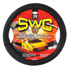 Leatherette SWC Black Steering Wheel Cover 36, 38, 42, 45, 47, 50, 52 cm