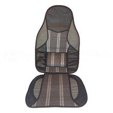 Bamboo with Grey Leather Seat Cushion
