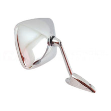 Chrome Universal Rear View Mirrors with White Round Edge