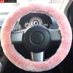 Pink Steering Wheel Cover Fits 36-41cm