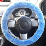 Sky Blue Steering Wheel Cover Fits 36-41cm