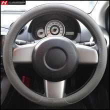 Grey Steering Wheel Cover 38 cm