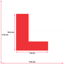 Learner Driver L Plate Sticker