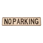 NO PARKING Aluminium Plate