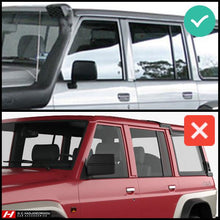 Nissan Patrol Y60 Wind Deflectors (Fits if mirrors are fitted on the door, not electrical)