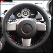 Plain Black Thick Steering Wheel Cover 38 cm