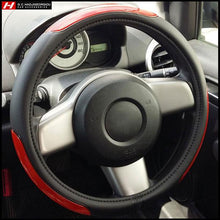 Racing Steering Wheel Cover 37-39 cm with Seat Belt Cushions