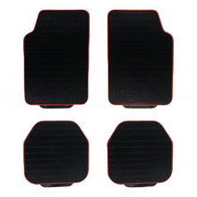 Red Outline Rubber Floor Mats