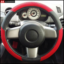 Red Racing Fabric Steering Wheel Cover 38 cm