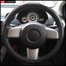 Simple Black Steering Wheel Cover 38 cm