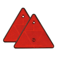 Triangular Red Reflectors Pair