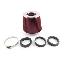 Universal Car Mushroom Air Intake Round Cone Filter Red