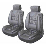 Montreal Grey Seat Cushions Pair