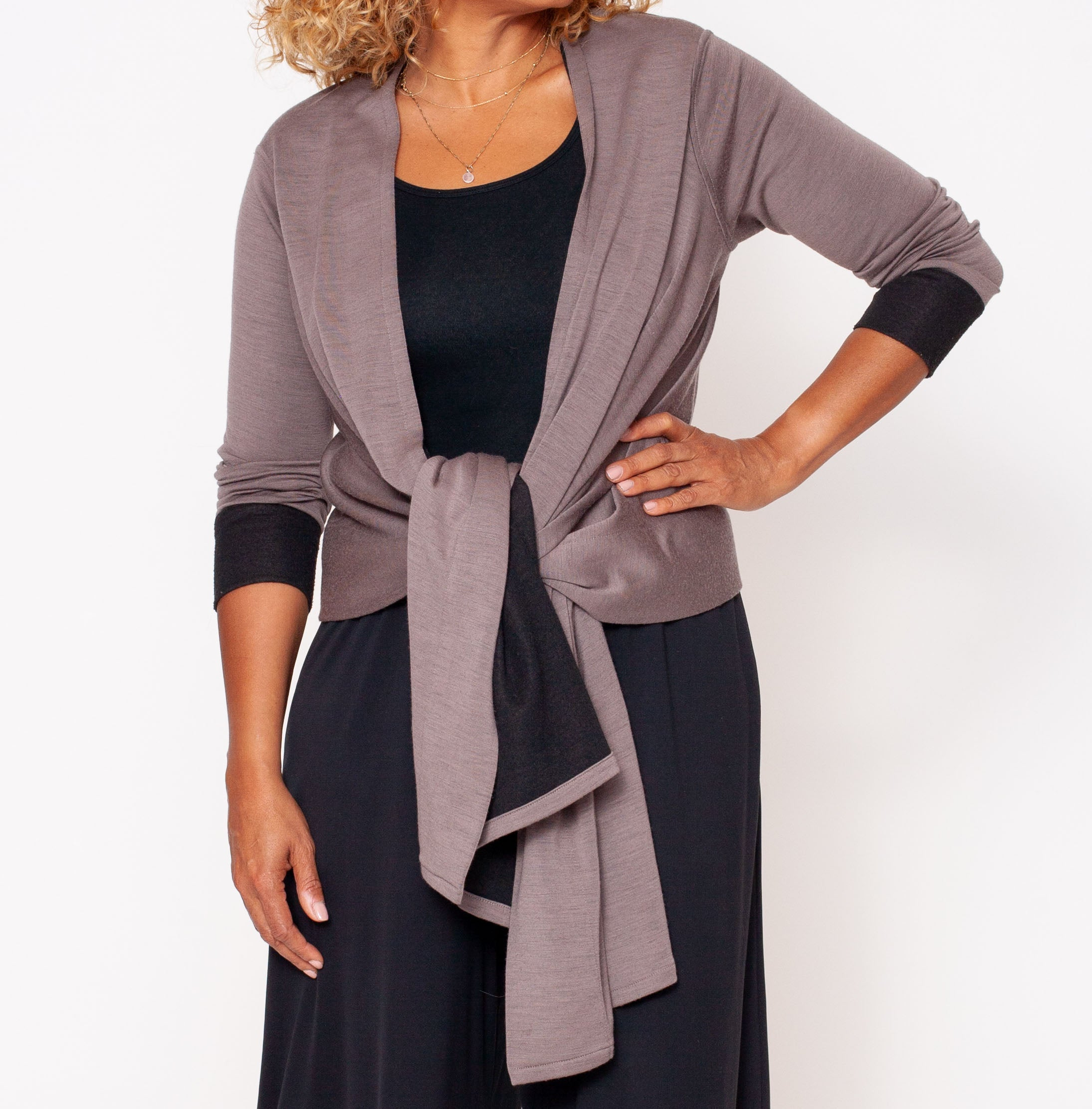 VIV Reversible Cardi-Wrap Sweater