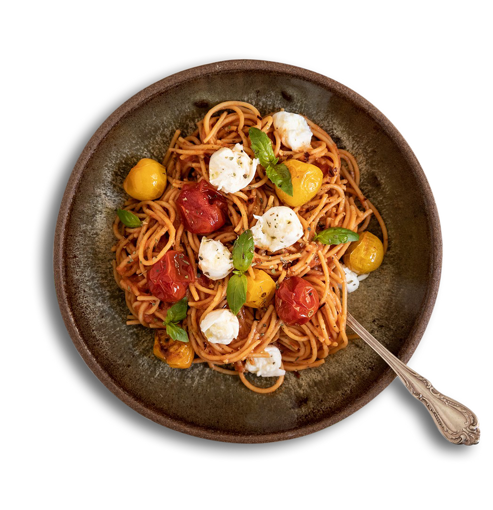 Roasted Tomato and <br>Mozzarella Spaghetti
