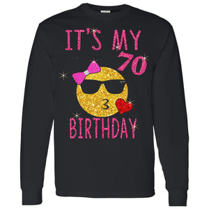 Cute Emoji 70 Years Old Its My 70th Birthday Gift