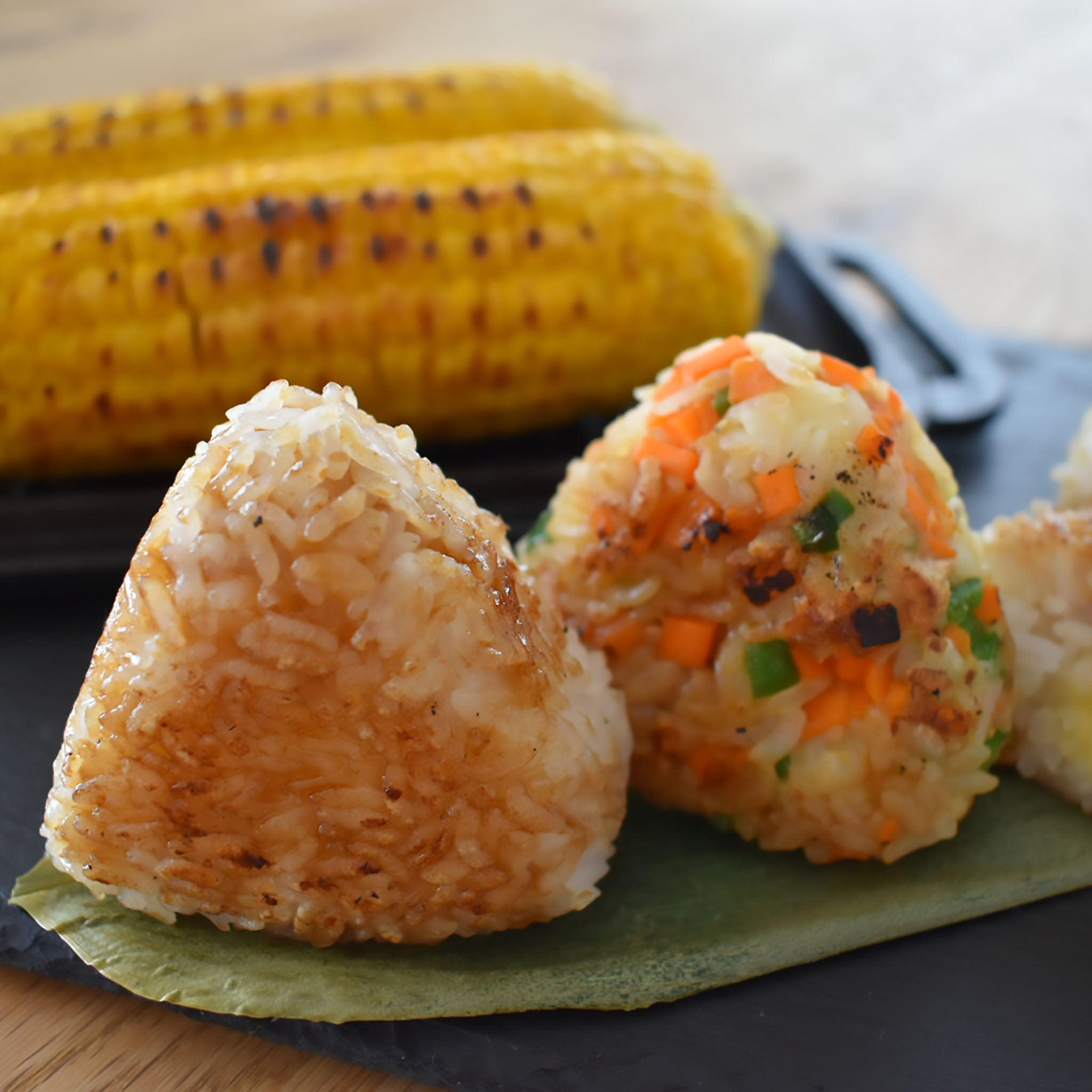 The Perfect BBQ Treats! Grilled Rice Balls (Yaki Onigiri) and Grilled Corn (Yaki Tomorokoshi)