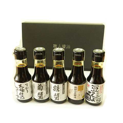 Premium shoyu assortment set incl. ramen recipe by chef (5 bottles)