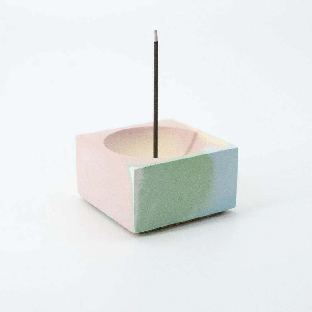 Marbled Concrete Incense Holder