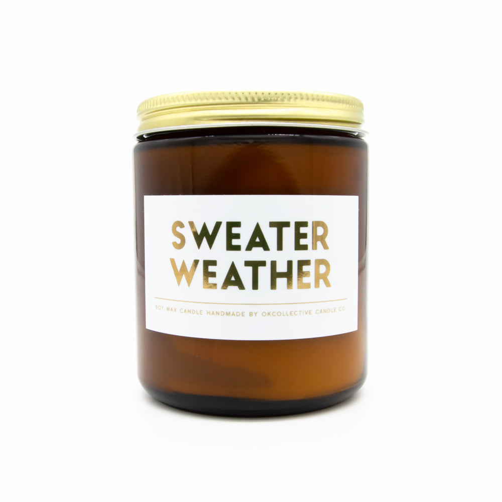 Sweater Weather 8oz Soy Candle