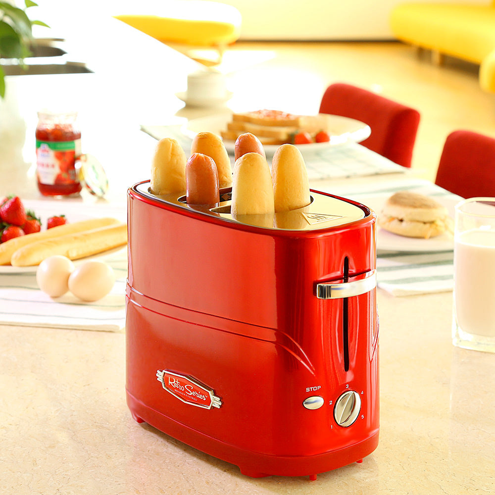 Electric Removable Pop-Up Hot Dog Toaster Bread Maker With Tong Toaster