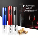 Cordless Electric Automatic Wine Corkscrew Opener With Foil Cutter And Vacuum Stopper