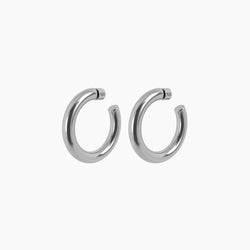"2"" Ava Hoops Rhodium"