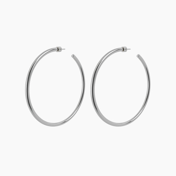 "3"" Zara Hoops Rhodium"