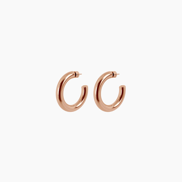 "1.5"" Linny Hoops Rose Gold Vermeil"