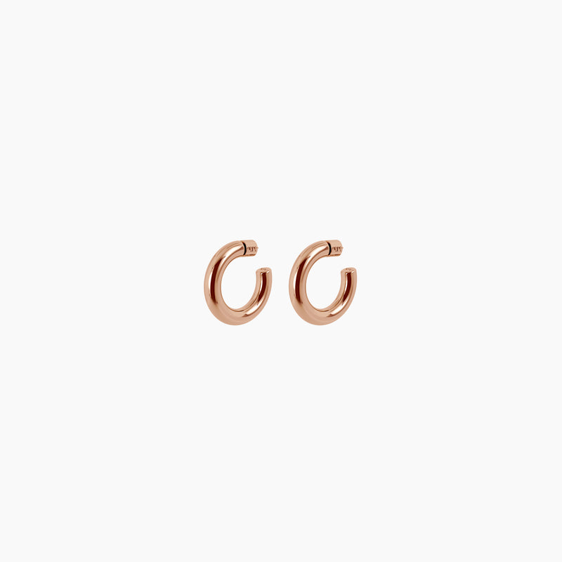 "1.2"" Asha Hoops Rose Gold Vermeil"