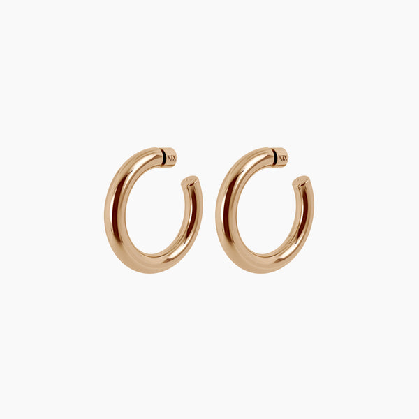 "2"" Ava Hoops Gold Vermeil"