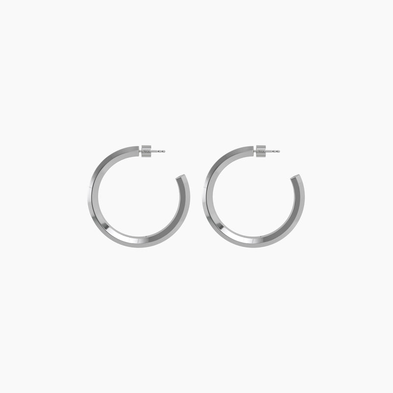 "1.7"" Anna Hoops Rhodium"