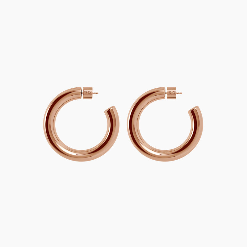 "2"" Ava Hoops Rose Gold Vermeil"