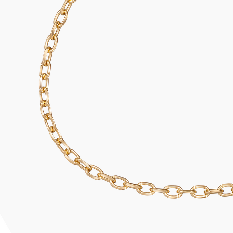 Diamond-Cut Anchor Chain Gold Vermeil