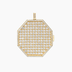 Paved Locket Charm Gold Vermeil