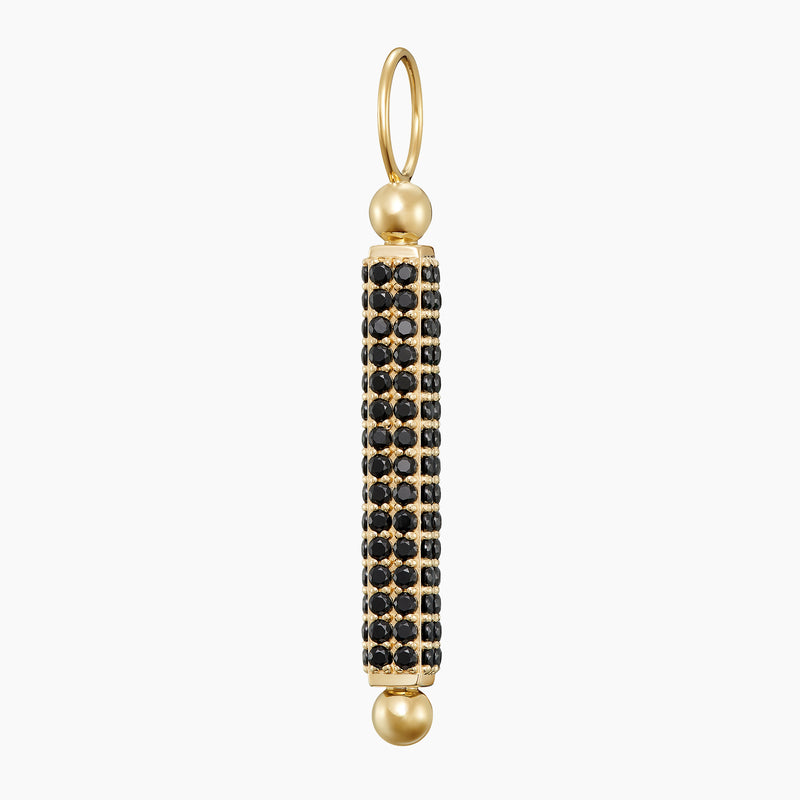 Paved Wand Charm Gold Vermeil