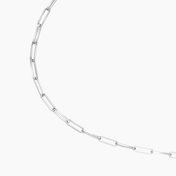 Medium Rolo Anklet Rhodium
