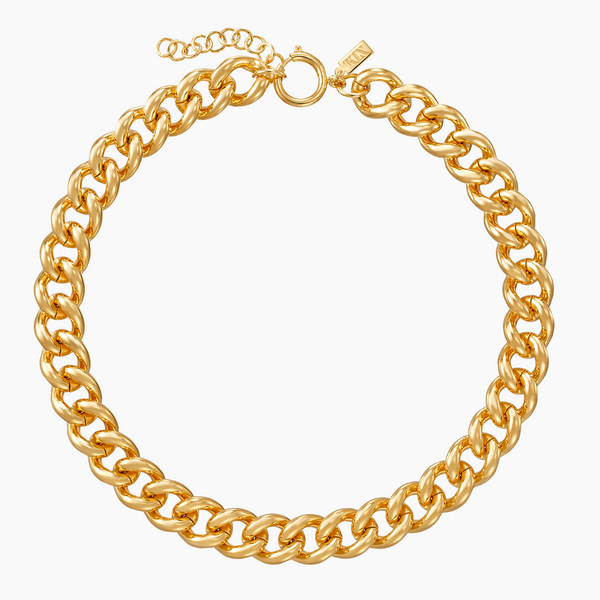 Brass Classic Curb Necklace in Gold