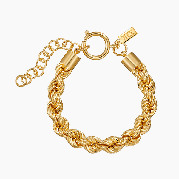 Brass Rope Bracelet in Gold