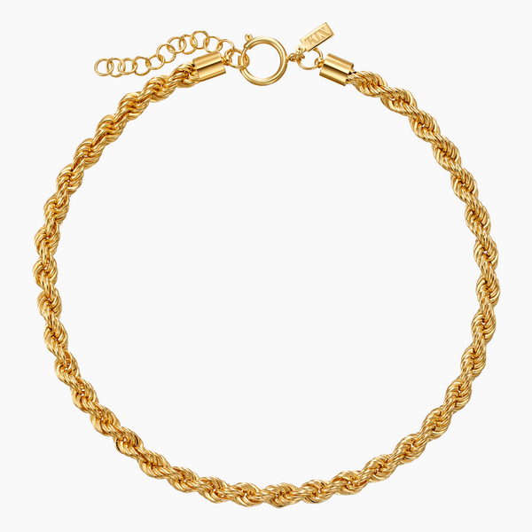 Brass Rope Necklace in Gold