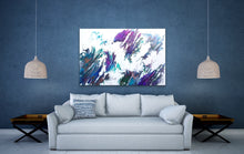 "Load image into Gallery viewer, River Bend - 24"" x 36"" Original Fluid Acrylic Painting"