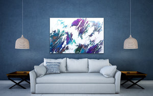 "River Bend - 24"" x 36"" Original Fluid Acrylic Painting"