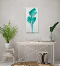 "Load image into Gallery viewer, Petals of Emerald - 12"" x 24"" Original Fluid Acrylic Painting"