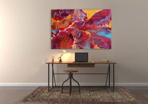 "Center of the Earth - 24"" x 36"" Original Fluid Acrylic Painting"