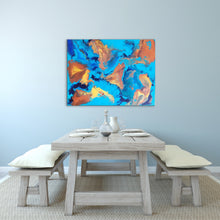 "Load image into Gallery viewer, Turtle Islands - 30"" x 40"" Original Fluid Acrylic Painting"