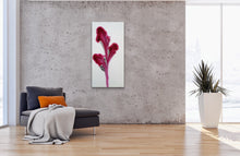"Load image into Gallery viewer, Petals of Magenta - 12"" x 24"" Original Fluid Acrylic Painting"