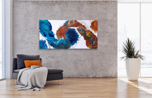 "Load image into Gallery viewer, Turtle Path - 24"" x 48"" Original Fluid Acrylic Painting"