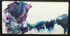 "Whirlwind of Color - 12"" x 24"" Original Fluid Acrylic Painting"