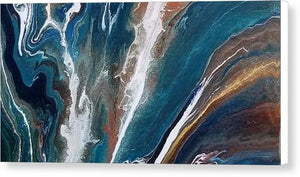 Merging Rivers - Canvas Print